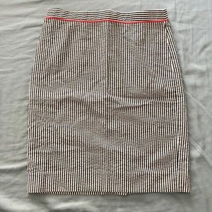 J. Crew Skirts - J.Crew seersucker knee length pencil skirt nwot